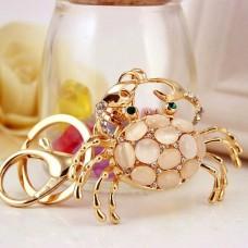 Брелок золотой жемчужный краб