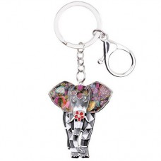 Брелок мозаичный слон