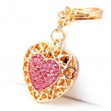 Брелок золотое сердце