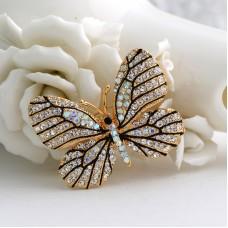 Прекрасная брошь бабочка красавица