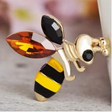 Брошь полосатая пчёлка