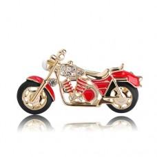Брошь мощный мотоцикл
