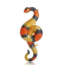Брошь опасная змея