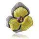 Брошь-подвес золотой винтажный цветок