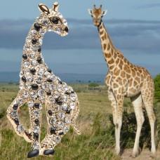 Брошь прекрасный жираф