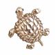 Брошь золотая черепаха