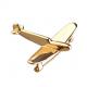 Брошь золотой самолёт