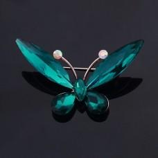 Брошь хрустальная бабочка