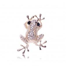 Брошь ослепительная лягушка