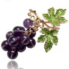 Брошь гроздь винограда