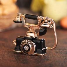 Брошь старинный телефон