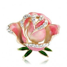 Брошь бутон розы