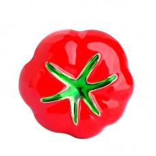 Брошь красный помидор