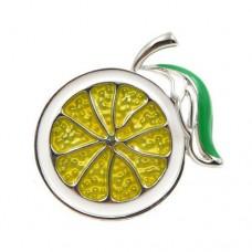 Брошь сочный лимон, апельсин, лайм