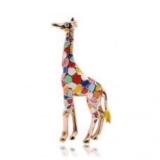 Брошь мозаичный жираф