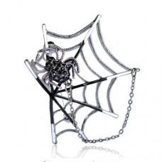 Брошь паук с паутиной