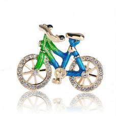 Брошь яркий велосипед