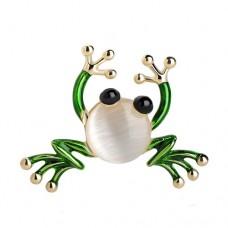 Брошь забавная лягушка