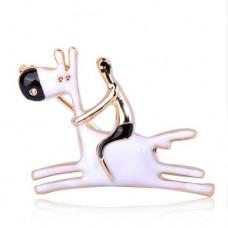 Брошь принц на белом коне