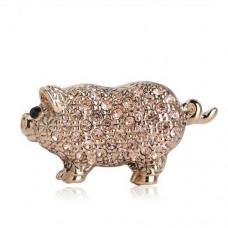 Брошь свинка удачи