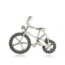 Брошь винтажный велосипед