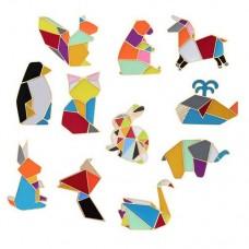Брошь мозаичные животные