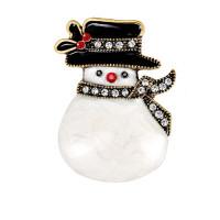 Брошь элегантный снеговик