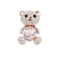 Брошь хрустальный медвежонок