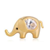Брошь маленький слоник