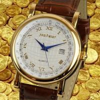 Позолоченные ретро часы