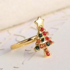 Новогоднее кольцо ёлочка