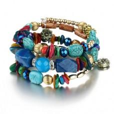 Тибетский браслет с натуральными камнями