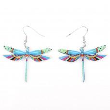 Серьги яркие стрекозы, 2 цвета